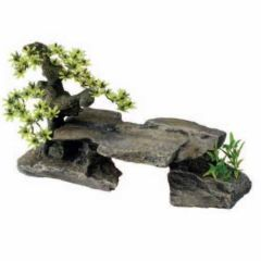 Decoración acuario Europet Bonsai en Roca