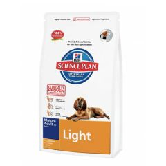 Hill's Science Plan Canine Mature Adult 7+ Light Medium Pollo