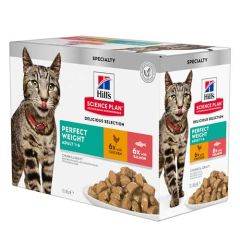 Hill's Science Plan Feline Perfect Weight Pollo & Salmón Multipack (Sobres)
