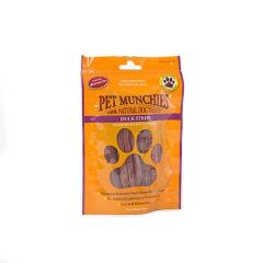 Snack perro Pet Munchies Duck Stips (100 gr)