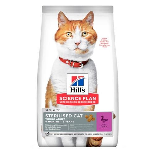 Hill's Science Plan Feline Sterilised Young Adult Pato