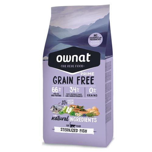 Ownat Grain Free Prime Sterilized Fish Cat